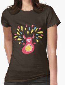 Jumping Happy Creature Womens Fitted T-Shirt