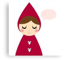 Beautiful Christmas Red Riding Hood Canvas Print