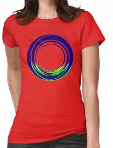 Abstract O Womens Fitted T-Shirt