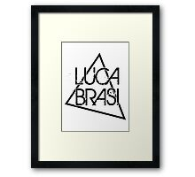 Luca Brasi Logo - Light Colours - Clothing:Pocket Size Framed Print