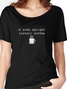 Command Line Coffee Install Women's Relaxed Fit T-Shirt