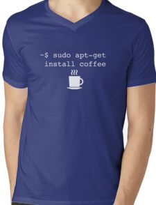 Command Line Coffee Install Mens V-Neck T-Shirt