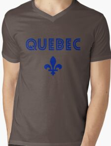 Quebec Retro  Mens V-Neck T-Shirt