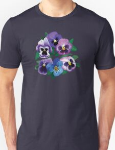 Circle of Purple Pansies Unisex T-Shirt