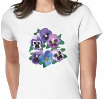 Circle of Purple Pansies T-Shirt