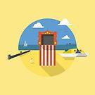 Swanage Beach by Jamie Harrington