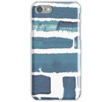 Blue different brush strokes iPhone Case/Skin