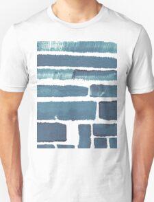 Blue different brush strokes Unisex T-Shirt