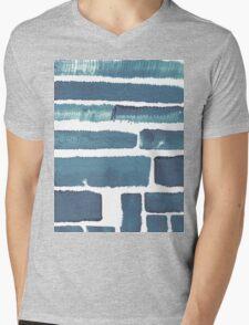 Blue different brush strokes Mens V-Neck T-Shirt
