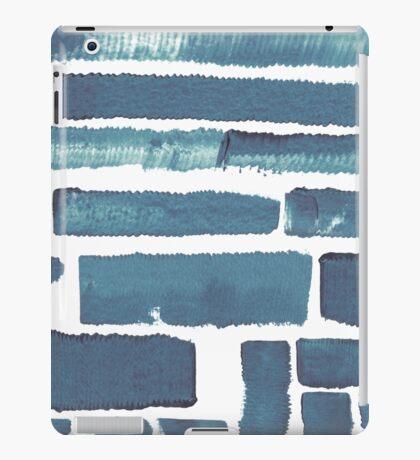 Blue different brush strokes iPad Case/Skin