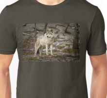 Timber Wolf on Guard Unisex T-Shirt