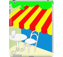 Terrace with table and chair iPad Case/Skin