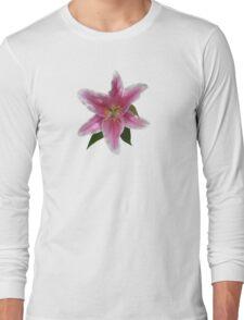 Single Stargazer Lily Long Sleeve T-Shirt