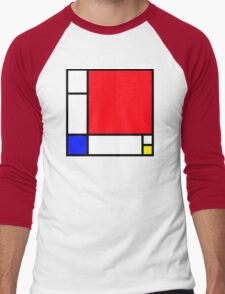 Squares_3 Men's Baseball ¾ T-Shirt