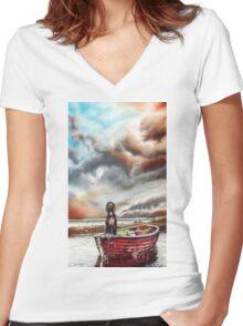 Turner's Dog Women's Fitted V-Neck T-Shirt