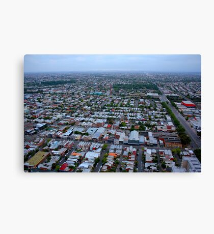 Roofs of victorian houses in Melbourne Canvas Print