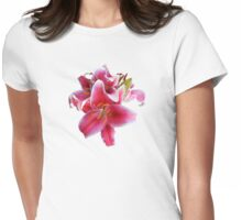 Cluster of Stargazer Lilies Womens Fitted T-Shirt