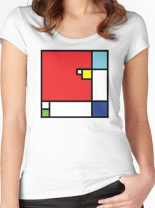 Squares_1 Women's Fitted Scoop T-Shirt