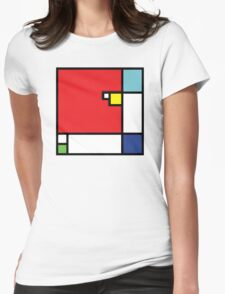 Squares_1 Womens Fitted T-Shirt