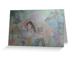 Amano style FInal Fantasy IX artwork Greeting Card