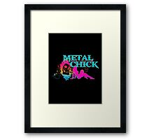 SEXY METAL CHICK Framed Print