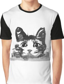 hiding cat Graphic T-Shirt