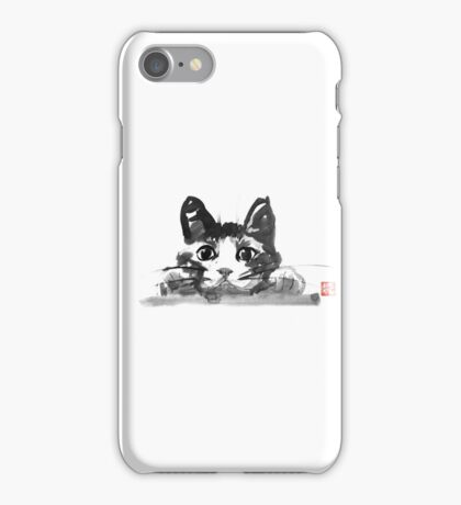 hiding cat iPhone Case/Skin