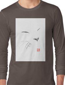 white cat Long Sleeve T-Shirt
