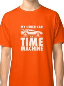 My Other Car Is A Time Machine Retro 80s funny logo tshirt Classic T-Shirt