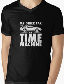 My Other Car Is A Time Machine Retro 80s funny logo tshirt Mens V-Neck T-Shirt