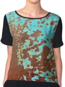 rusty metal sheet Chiffon Top