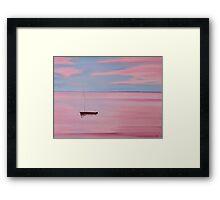 Red Boat, Pink Sunset Framed Print