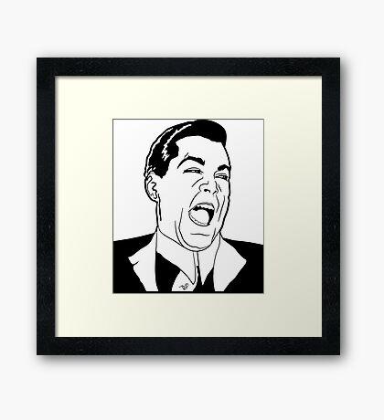 Ray Laugh Meme by Tai's Tees Framed Print