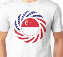 Singapore American Multinational Patriot Flag Series Unisex T-Shirt