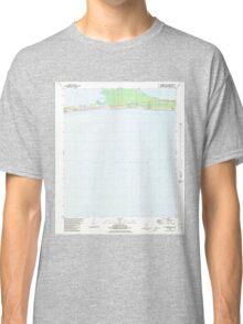 USGS TOPO Map Alabama AL St Andrews Bay 305097 1980 24000 Classic T-Shirt