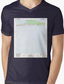 USGS TOPO Map Alabama AL St Andrews Bay 305097 1980 24000 Mens V-Neck T-Shirt