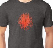 Speckle Gravity Red Unisex T-Shirt