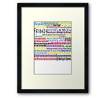 Friends Quotes Framed Print