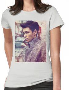 TOP BigBang Kpop Korea Choi Seung Hyun Womens Fitted T-Shirt