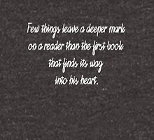 Few Things Leave a Deeper Mark on a Reader - Carlos Ruis Zafon Unisex T-Shirt