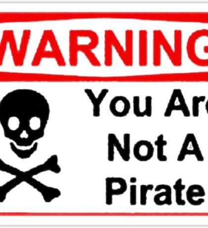 Funny Pirate Warning Sticker