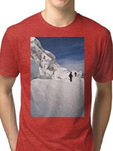 climbing weissmies  Tri-blend T-Shirt