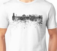 Bratislava skyline in black watercolor Unisex T-Shirt