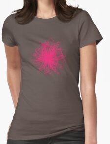 Speckle Gravity Pink Womens Fitted T-Shirt