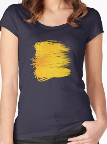 Speckle Gravity Yellow Women's Fitted Scoop T-Shirt