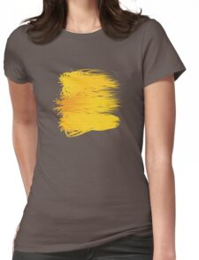 Speckle Gravity Yellow Womens Fitted T-Shirt