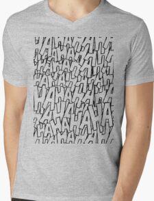 Ha Ha Ha - Green Mens V-Neck T-Shirt