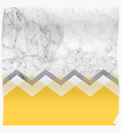 Mustard and Marble Graphic  Poster