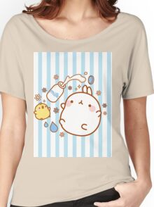 kawaii molang bunny spilt milk Women's Relaxed Fit T-Shirt