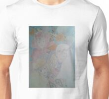 Some dionysian tribe women with a totem pole and seashells Unisex T-Shirt